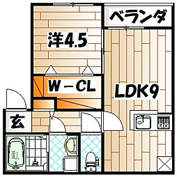 LaLuce黒住[2階]の間取り