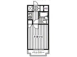 ベルタール橋本[3階]の間取り