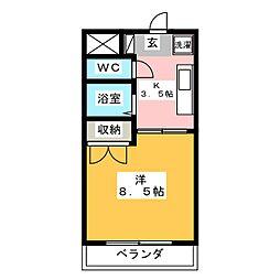 サンライズ松本[2階]の間取り
