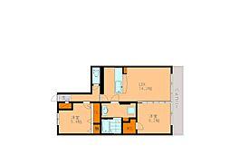 フォレスト若江[4階]の間取り