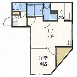 北海道札幌市白石区栄通9の賃貸マンションの間取り