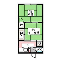 角久荘[2階]の間取り