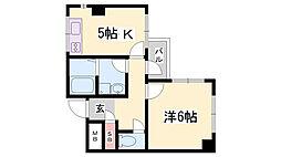 アーバンコモード新長田[9階]の間取り