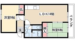 Casa Avenue Ikeba[1階]の間取り