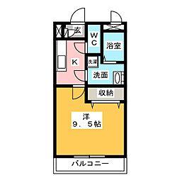 メゾンモンマルトル2[3階]の間取り