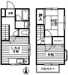 [テラスハウス] 神奈川県川崎市宮前区平1丁目 の賃貸【神奈川県 / 川崎市宮前区】の間取り