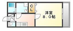 広島県福山市春日町3丁目の賃貸マンションの間取り