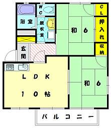 シーパークハイツII[2階]の間取り
