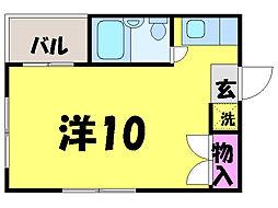 愛媛県松山市大街道3丁目の賃貸マンションの間取り