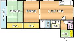 シティプラザ神原[3階]の間取り
