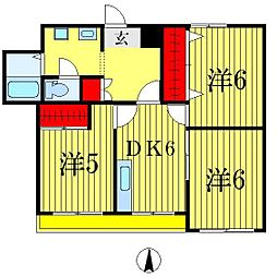 小泉コーポラス[3階]の間取り