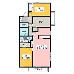 覚王山グラシオン[3階]の間取り