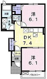 メゾンフラン[1階]の間取り