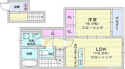 kujira-so 2階1LDKの間取り