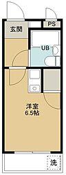 煉瓦館9[213号室号室]の間取り