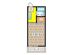 東京都府中市美好町2丁目の賃貸マンションの間取り
