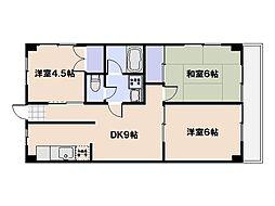 平稲ビル[4階]の間取り