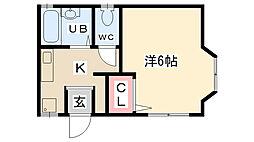 ステップハウス[101号室]の間取り