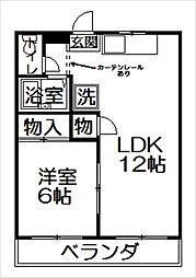 栃木県佐野市植野町の賃貸アパートの間取り