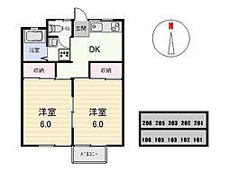 小沢コーポ[103号室]の間取り