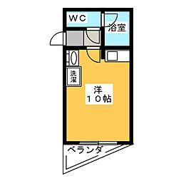 ジュネスヤイヅ[4階]の間取り