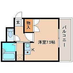 静岡県静岡市清水区八千代町の賃貸マンションの間取り