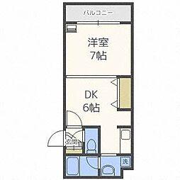 北海道札幌市白石区本通8丁目南の賃貸マンションの間取り
