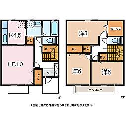 [タウンハウス] 長野県松本市野溝西1丁目 の賃貸【/】の間取り