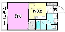 ミュゼ南松山[202 号室号室]の間取り