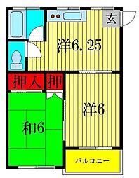 第2関東マンション[6階]の間取り