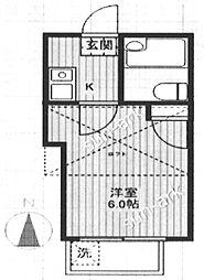 東京都板橋区成増1丁目の賃貸アパートの間取り
