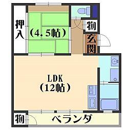 日電京都ハウス[402号室]の間取り