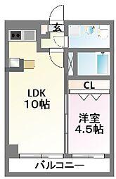 ダイワティアラ津田沼V[4階]の間取り