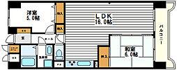 メロディーハイム法円坂[8階]の間取り
