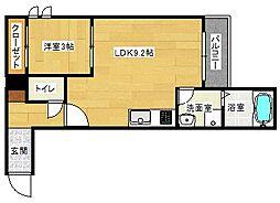 広島県安芸郡府中町大須4丁目の賃貸アパートの間取り