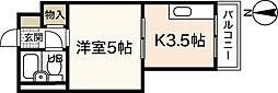 舟入 松尾ビル[2階]の間取り