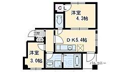 D's LIBRA (ディーズリブラ)[2階]の間取り