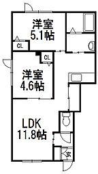 レトアSAKAE[101号室]の間取り