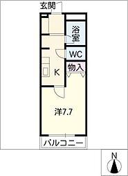ユニグローブ[2階]の間取り