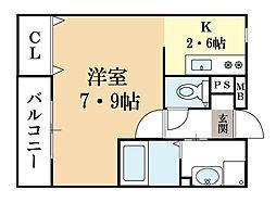 カーサ・プラシード[2階]の間取り