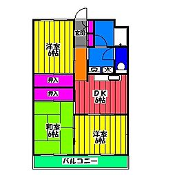コーポラス金子[2階]の間取り