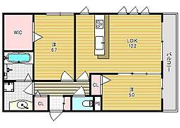 仮称)春日町新築アパート[103号室]の間取り