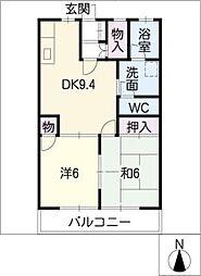 レジデンスマチ[1階]の間取り