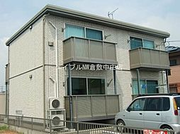 岡山県倉敷市玉島の賃貸アパートの外観