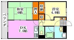 三井ファイン[302号室]の間取り
