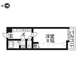 MPI'S京都西院[0202号室]の間取り