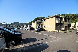 岡山県岡山市中区四御神の賃貸アパートの外観