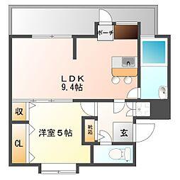 白石第2アパート[4階]の間取り