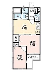 仮称 田無4丁目アパート[301号室]の間取り
