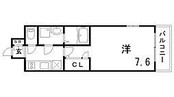 エスプレイス神戸ウエストモンターニュ[6階]の間取り